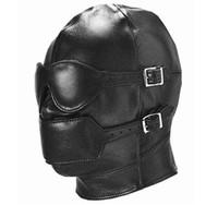 игра лицом для взрослых секс оптовых-Горячий секс продукт новый мягкий кожаный бондаж маска для лица повязка на глаз с кляпом во рту головные уборы для взрослых БДСМ секс игрушки кровать набор игр