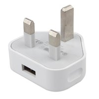 Wholesale Iphone Usb Mains Chargers - UK 3 Pin Mains Charger Adapter Plug 5V 1A UK USB Wall Adapter For Iphone 5S 6 6S 7Plus Samsung S6 S7 Tablet Pc Universal high quality