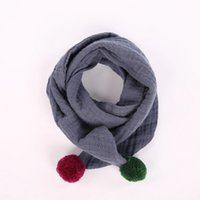 Wholesale Korean Model Boy Fashion - 2017 new Korean children's scarves wild autumn and winter baby cotton cotton tide Boys girls winter models collar