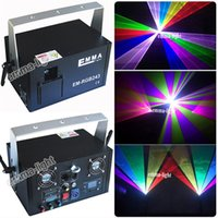 Оптово-Chrismas 3D-эффект 24 CH DMX 512 Mini IR Remote 400mW RGB Лазерный сканер Lights DJ Disco Show Projector Stage Lighting