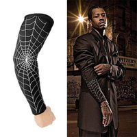 Wholesale Football Arm Pads - 2pcs Brand Sport Elbow Pads basketball Arm Compression pads Safety Calf Football Running Training Arm Summer Long Sleeves Outdoor Accs R13