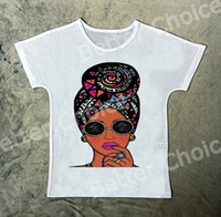 Track Ship + New Vintage Retro T-shirt Top Tee Cool Brown Skin Fashion Scarf Girl Black Sun Glasses 1080