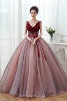 vestido vitoriano marrom venda por atacado-100% real luz marrom marrom vestido de baile medieval vestido de Renascença vestido de rainha cosplay vitoriano / Marie Belle