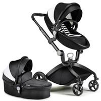 Wholesale Lightweight Prams Strollers - Wholesale- European Folding Luxury Baby Umbrella Car Carriage Kid brand By Stroller Pram Style Travel Wagon Portable Lightweight hotmom