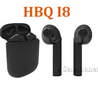 Wholesale Earphones For I Phone - New Wireless Charging Headphones Bluetooth Headset Mini Earbud 4.1 For Android Samsung Sony Apple i Phone Twins Earphone Stereo HBQ i8