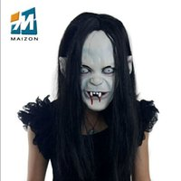 Wholesale Grudge Halloween Masks - Horror Grudge Sadeng high-end latex mask Dance props Eva make-up party horror mask Ghost Monster halloween masks