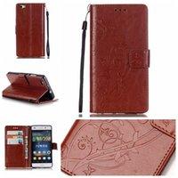 huawei ascend p8 cover оптовых-Huawei P8 Lite Case - роскошный PU кожаный бумажник противоударный Case для Huawei Ascend P8 Lite откидная крышка кронштейн с розничной упаковке