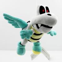"Wholesale Super Mario Flying - Hot Sale 5pcs Lot 7"" 18CM Super Mario Bros Plush Flying Winged Dry Bones Soft Toy Stuffed Animal Gift"