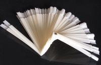 Wholesale nature tips - 50Pcs Nature Nail Transparent False Nail Art Tips Stick Display Practice Fan Board 100% Brand New