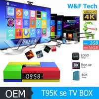 Wholesale New Android Hd - New Arrival T95K PRO SE Amlogic S905X Android 6.0 TV Box 2GB 16GB KD 17.3 Krypton Customized Better T95M X96 M8S MXQ PRO