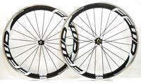 carbon fahrrad räder legierung bremsfläche großhandel-Freies verschiffen 700C 50mm tiefe 23mm breite legierung bremsfläche carbon räder klammer rennrad fahrrad laufradsatz mit Novatec 271/372 naben