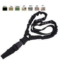 paintball gun camo - Outdoor Sports Army Hunting Camo Gear Rifle Shooting Paintball Gear Airsoft Strap Gun Lanyard Single Point Tactical Sling SO12