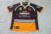 Wholesale Best New Homes - NRL National Rugby League Brisbane Home red Rugby jersey broncos best quality New in stock 2017 brisbane rugby shirts