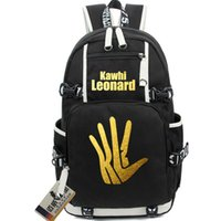 Wholesale Plain Hand Fans - Kawhi Leonard backpack Basketball player fans school bag Hand satchel daypack San Antonio schoolbag Outdoor rucksack Sport day pack
