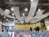 Wholesale Ceiling Decorations For Parties - 10m length x 0.45m wide 12pcs lot Wedding Party Banquet Decoration Wedding Ceiling Drape Canopy Drapery for decoration