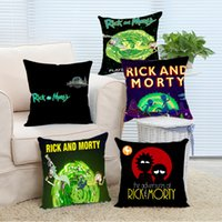 Wholesale 24x24 Pillow Black - Wholesale- Pillow Case Rick and Morty Comfort Cool Covers Cover Case 14x14 16x16 18x18 20x20 24x24 inch Two Sides Zippered Home Throw Pill