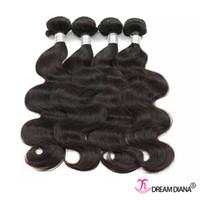 Wholesale Brazilian Bundle Hair Prices - Cheap Brazilian Hair Weaves Body Wave Unprocessed Virgin Hair Thick Bundles Brazilian Body Wave Human Hair Bundles 4Pcs  Lot Factory Price