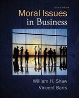 Wholesale 2017 Real paper book Moral Issues in Business th Edition free ship