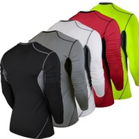 Wholesale Multi Layer T Shirt - Men Compression MMA Rashguard Fitness Long Sleeves Shirts Base Layer Skin Tight Weight Lifting Running Training T Shirts