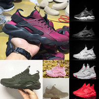 Wholesale Men Free Trainer Running Shoes - 2017 New Air Huarache IV Ultra Running shoes Huraches trainers for men & women Multicolor shoes Triple Huaraches sneakers free shipping