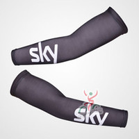Wholesale New Team Cycling Kits - 2017 sky new pro team New Bike Arm Warm Kit Cycling Arm Warmers Bicycle Riding Arm Sleeve Cover D2008