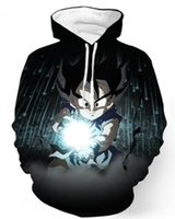 Wholesale Dragon Ball Sweater - New Fashion Couples Men Women Unisex Dragon Ball Z Wukong3D Print Hoodies Sweater Sweatshirt Jacket Pullover Top S-5XL T71