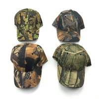 Wholesale Golf Mesh Hat - Camouflage Hat Cap Vintage Washed Adjustable Mesh Trucker Baseball Caps Snapback Hip Hop