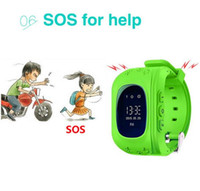 Wholesale sim card watch cell for sale – best Tracker Q50 Smart Watch For Children Wearable OLED LCD Electronic Anti Lost with SIM Card Cell Phone Watches
