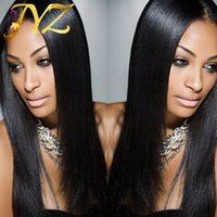 Wholesale straight brazilian wig cap for sale - Straight Full Lace Wigs Top Quality Lace Front Wigs Natural Hairline With Baby Hair Medium Size Cap Lace Front Wig