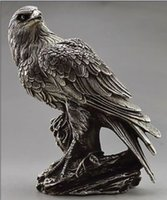 Wholesale Decorated Boxes - Elaborate Chinese Collectible Decorate Old Handwork Tibetan Silver Eagle On Tree Box & Statue