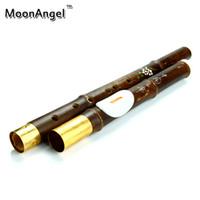 Wholesale Purple Flute - Wholesale-Yunnan Natural Purple Bamboo Bawu Vertical Playing Flute F G Key Flauta Bawu Chinese Instrument