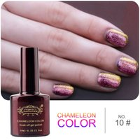 Wholesale Soak Off Uv Gel 12 - Wholesale-Perfect Summer Newest Chameleon Gel Nail Polish soak-off color changing uv gel lacquer 12 color for choose