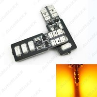 FEELDO Amber T10 / W5W / 194/168 6SMD 5630 LED Canbus Errore Car LED # 4315