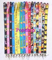 Wholesale Mixed Belts - Wholesale 300Pcs Popular Anime Pikachu Cartoon Neck Straps Lanyards Mobile Phone,ID Card,Key Condole belt Mixed