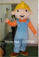 Wholesale Hero Mascots Character Costume - High Quality Bob The Builder Mascot Costume Character Costume Cartoon Costume Free Shipping
