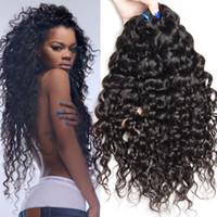 Wholesale Ocean Wave Hair - 3 Bundles lot peruvian water wave virgin hair ocean wave hair weave water wave weave 100% unprocessed virgin hair bundle deals free shipping