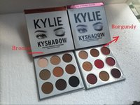 Wholesale Eyeshadow Palette Kit - THE BURGUNDY PALETTE | Kylie Cosmetics Jenner Kyshadow eye shadow Kit Eyeshadow BRONZE and BURGUNDY Palette Preorder Cosmetic 9 Colors