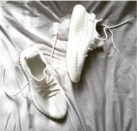 Wholesale Men Shoes Sports Sneakers - Cream White Boost 350 V2 New SPLY-350 Sports shoes All White Triple White 350 V2 Running Shoes Kanye West Sneakers Men Women