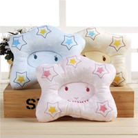 Wholesale Newborn Head Support Pillow - Baby Pillow Color Cotton Embroidery Set Newborn Child Defensive Cartoon Pillows Soft Neck Support Cushion Pad Prevent Flat Head 4 4sl J R