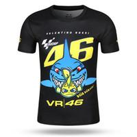 Wholesale vr shirt - Free shipping 2017 Rossi MOTOGP Racing Team VR46 Shark T-Shirt Summer Motorcycle T-Shirt Casual Motorbike VR 46 quick-dry T-shirt