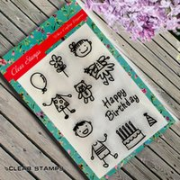 Wholesale Baby Boy Stamps - Wholesale- Scrapbook DIY photo cards account rubber stamp finished transparent chapter Baby Boy and Baby Girl