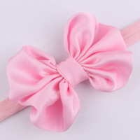 Wholesale Butterfly Headband For Baby - Susan' Satin Butterfly Bowknot Hairband Headband Stretch Hair Band Accessories for Toddler Infant Newborn Baby Kids Girls