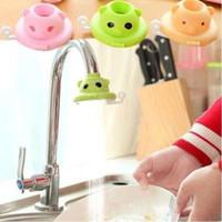 Wholesale Shower Accessory Faucet - Cute Cartoon Kitchen Torneira Sprayers Filter Water Tap Saving Aerator Shower Head Kitchen Faucet Accessories Gadget CCA7930 100pcs