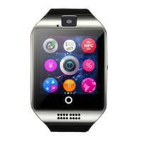 relojes inteligentes andriod al por mayor-Q18 Reloj inteligente Reloj táctil NFC cámara remota 500 mah Batería Sim para iPhone 6s / 6 / 5S / 4S HTC Xiaomi 3 Andriod teléfono