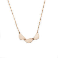 Wholesale Half Circle - Wholesale 10Pcs lot 2017 New Promotion Stainless Steel Jewelry Pendant Rose Gold Three Half Circles Gold Chains Choker Necklaces For Women
