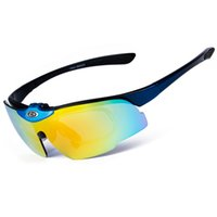 Esportes Polarized Óculos de sol Rimless Men Women Óculos de sol Cycling Óculos de sol Bicycle Mountain Bike Goggles Eyewear, Blue Frame