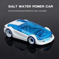 Wholesale Ready Cut - Brine Power Self-assembled Car Robot Building Blocks Electronics Car DIY Salt Water Power Battery Cars Cut Sunlight 233 Educational Toy