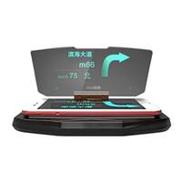 otomobiller için gövde ekranı toptan satış-Araba Hud Tutucu Heads Up Display Reflektör Projektör Otomobiller Tutucu Stander Evrensel IPhone GPS Navigasyon Cep Telefonu Görüntü