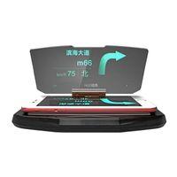 handy gps navigation großhandel-Auto Hud Halter Heads Up Display Reflektor Projektor Autos Halter Stander Universal für iPhone GPS Navigation Handy Bild