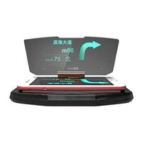 автомобильная ячейка оптовых-Автомобильный держатель Hud Heads Up Display Reflector проектор автомобилей держатель Stander универсальный для IPhone GPS навигация мобильный сотовый телефон изображение